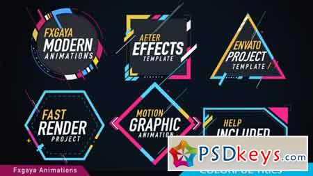 Colorful Titles After Effects Template 22009789
