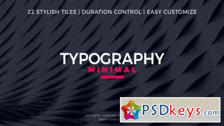 Minimal Typography After Effects Template 20395304