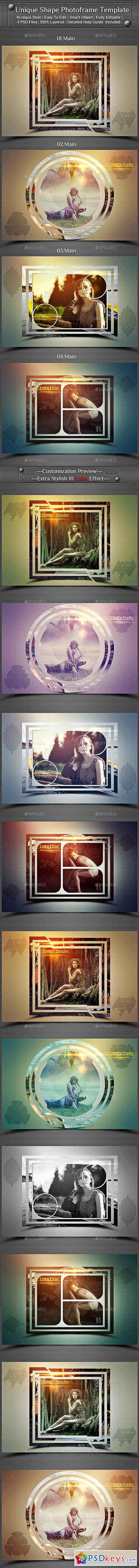 Unique Shape Photo Frame Template 22079345