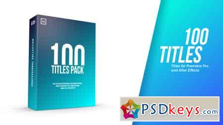Titles Pack After Effects Template 22120299