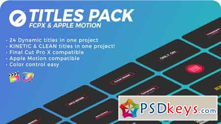 Titles Pack FCPX & Apple Motion 21585978 » Free Download