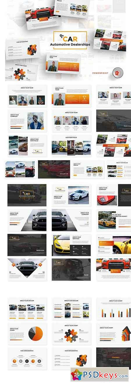 Car Dealerships Keynote & Google Slides Template