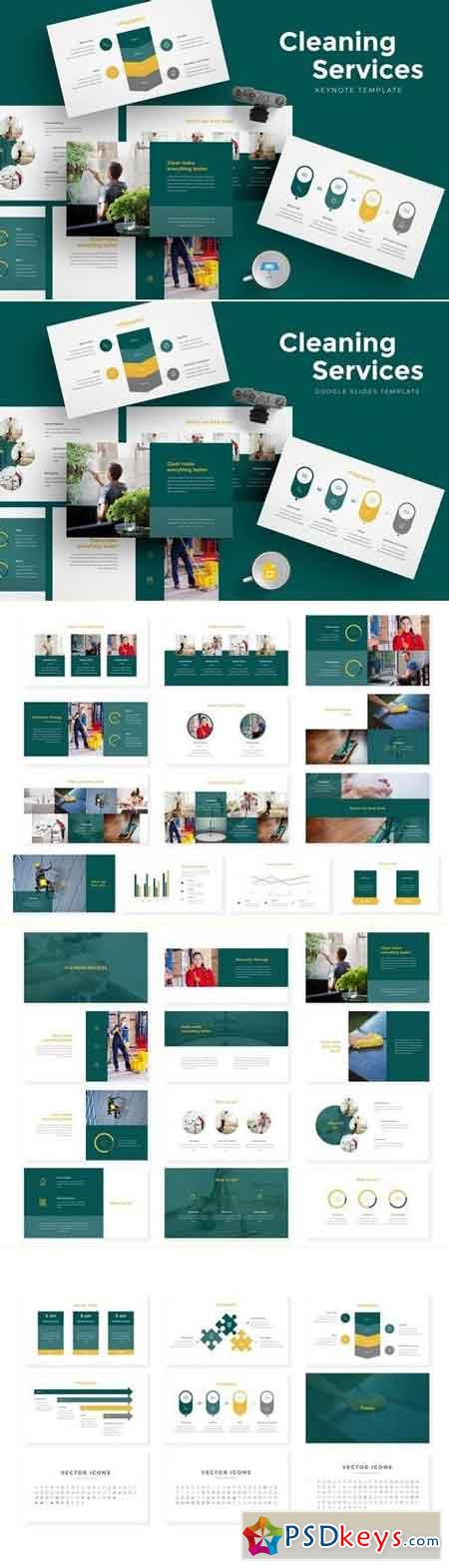 Cleaning Services Keynote & Google Slides Template
