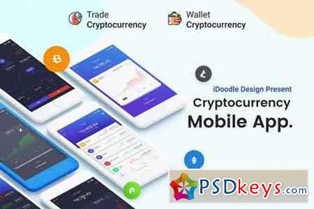 Mobile App UI Kit Cryptocurrency Trading & Wallets