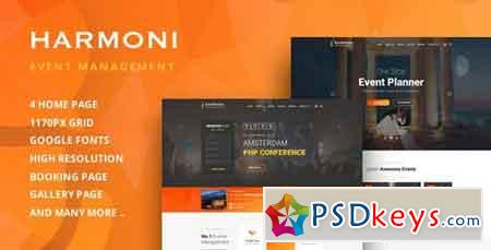 Harmoni - Event Management PSD Template - 21461054