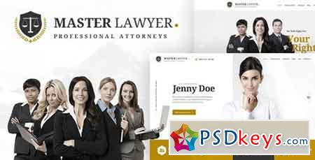 Master Lawyer - PSD Template - 20571249
