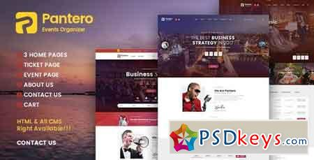 Pantero - Event & Conference PSD Template - 20114977
