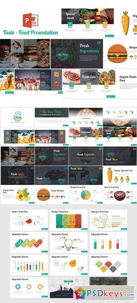 Taste - Food Powerpoint Template » Free Download Photoshop
