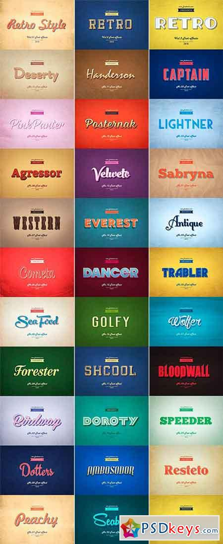 Retro Style Text Effects Bundle