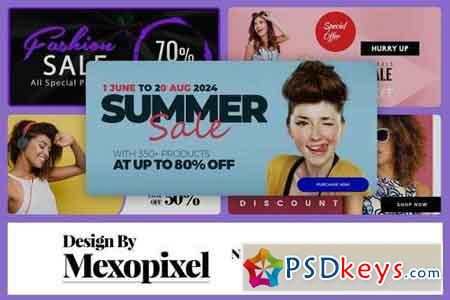 High Quality Discount banner PSD Design