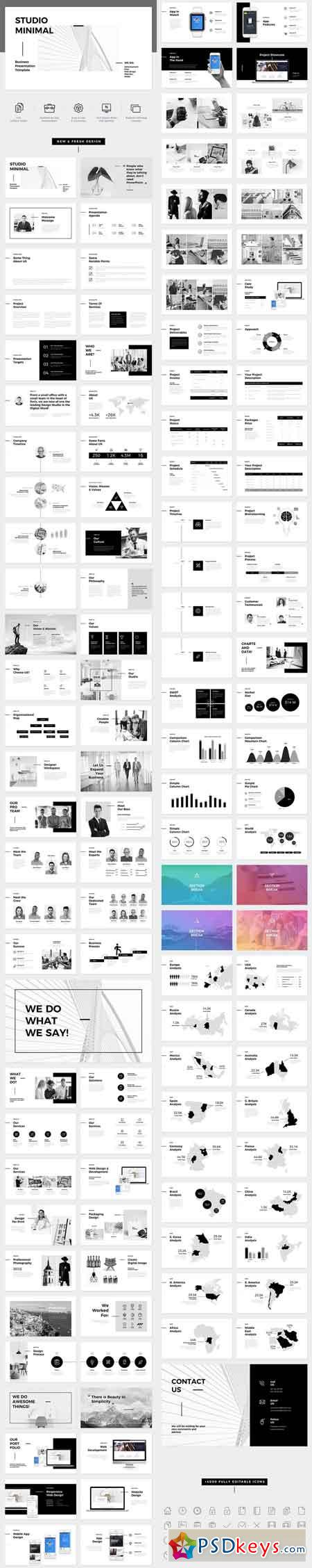Studio Minimal Presentation Google Slides Template 21709689
