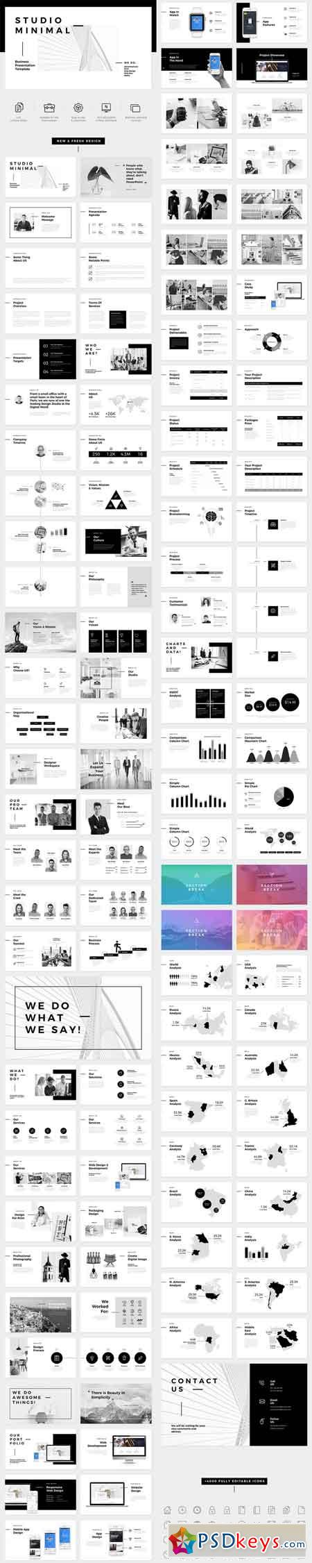 Studio Minimal Presentation PowerPoint Template 20939116