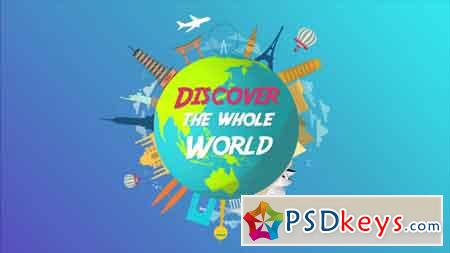 Pond5 - World Travel Logo Animation 079871459