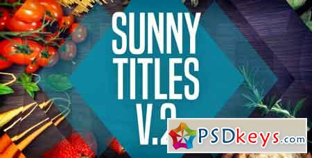 Sunny Titles v.2 20604818 After Effects Template