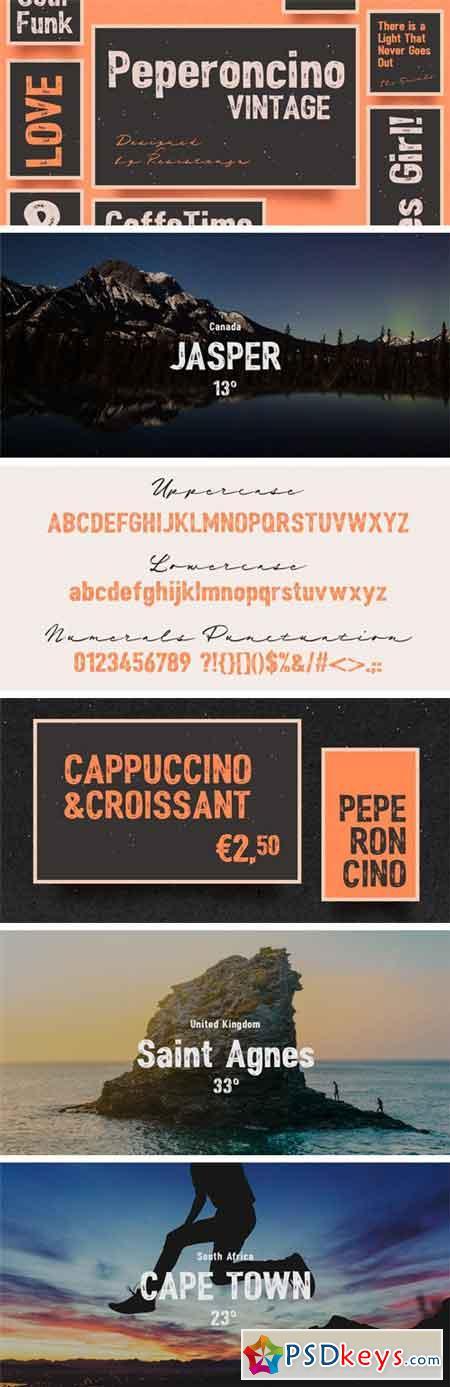 Peperoncino Vintage Font Family