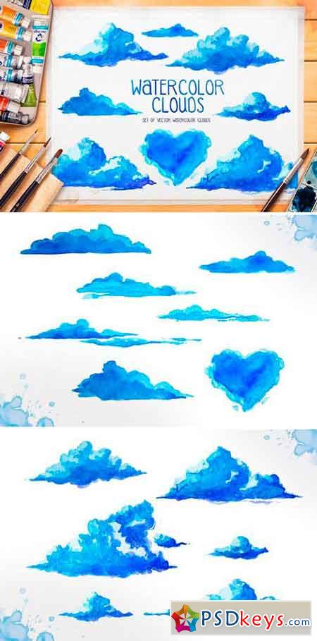 Watercolor clouds 524282