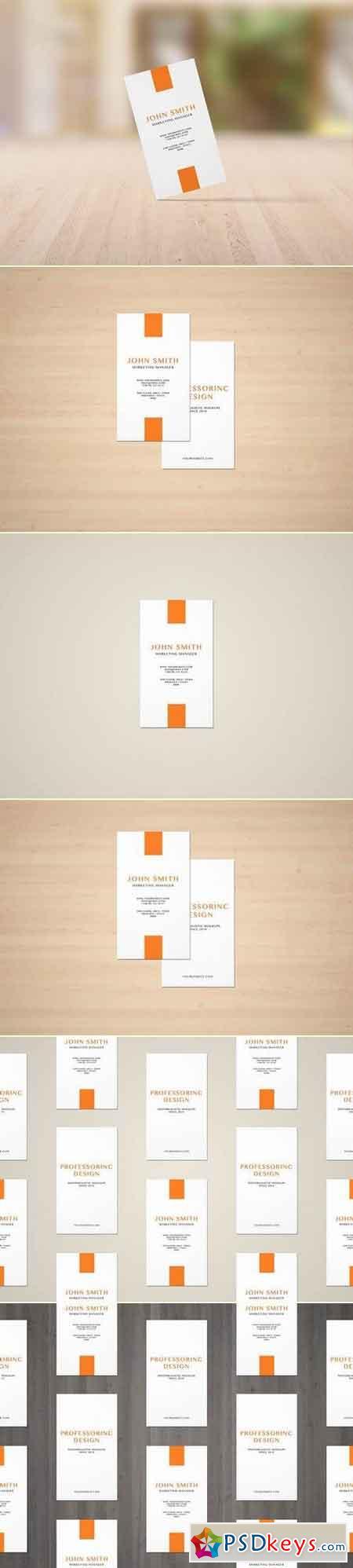 3.5x2'' Portrait Business Card Mockup
