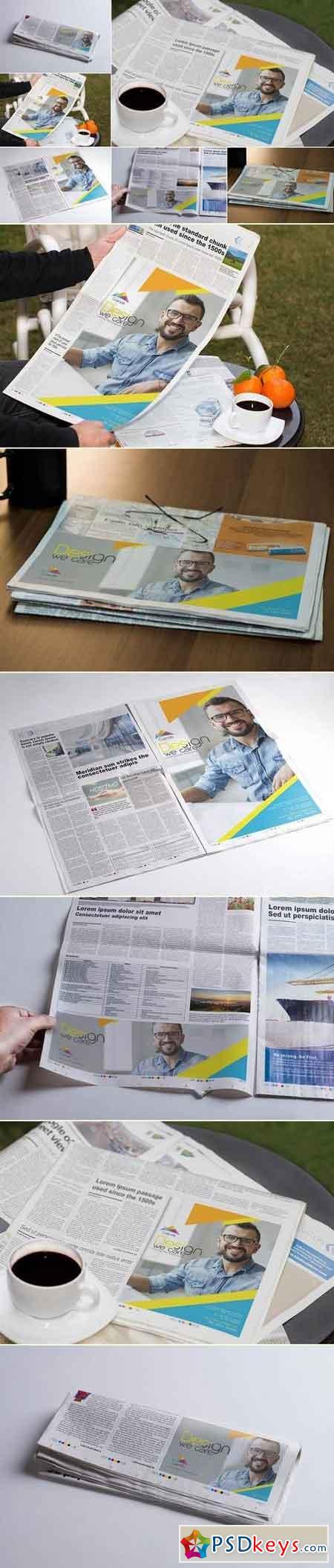 Newspaper Print Ad Design Mockups