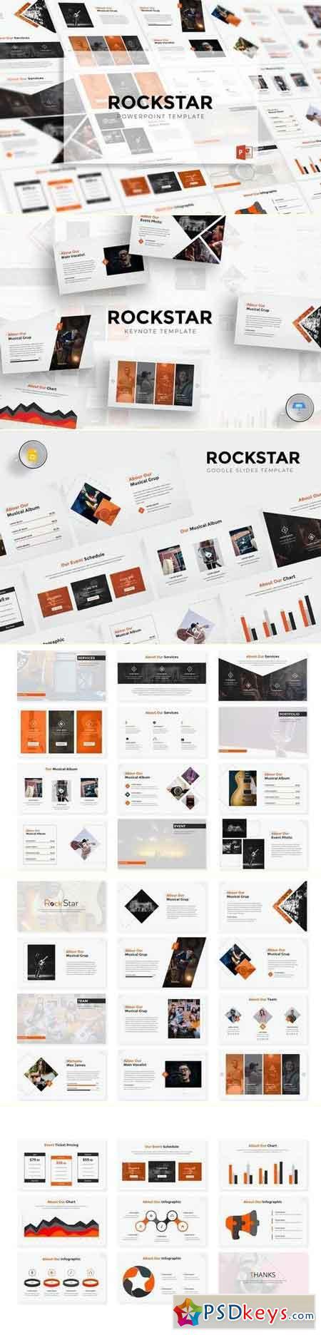 Rockstar Powerpoint & Keynote & Google Slide Template