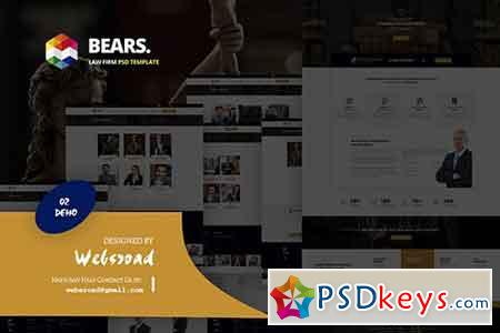 Bear's - Law Firm PSD Template