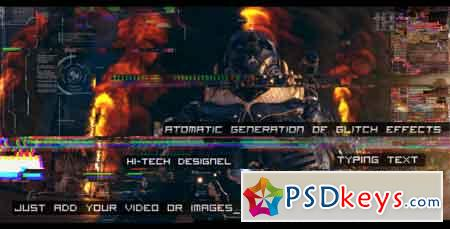Glitch Auto Generation and Typing 19677227 After Effects Template