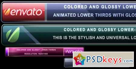 Colored and Glossy Lower-Thirds 248134 After Effects Template