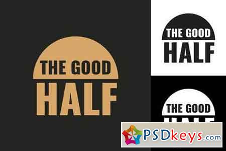 Good Half Logo Template