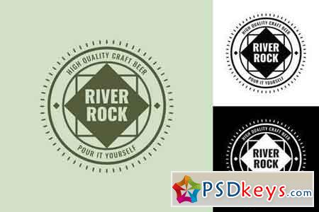 RiverRock Retro Logo Template
