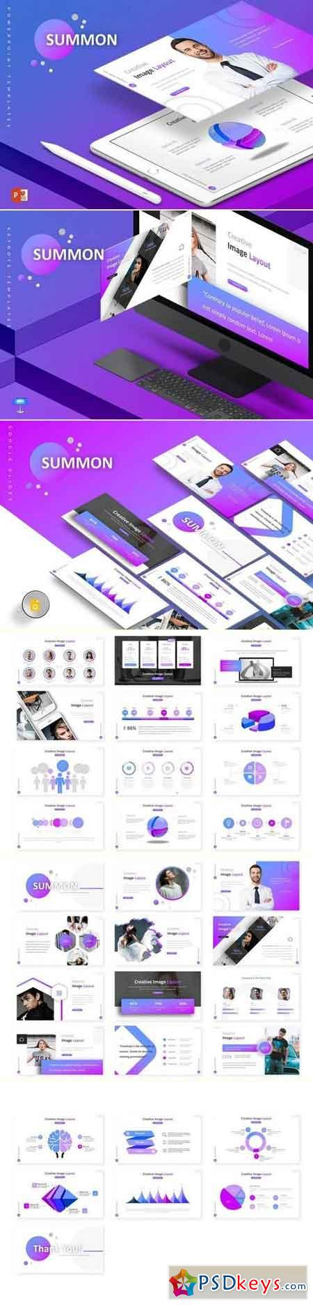 Summon - Powerpoint & Keynote & Google Slide Template