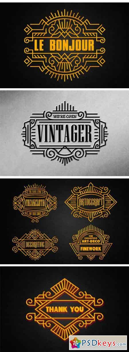 Art Deco – Vintage Badges Vol. II