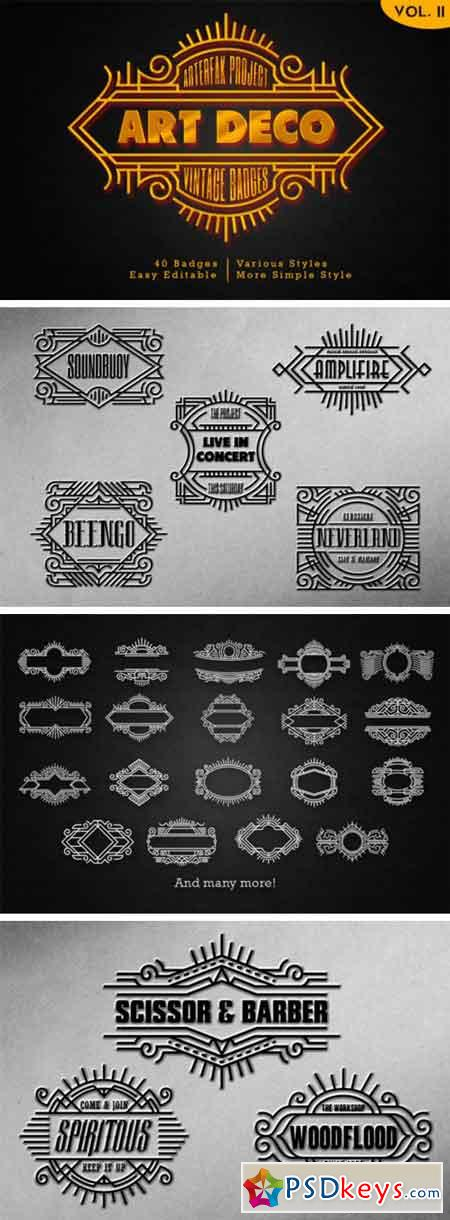 Art Deco – Vintage Badges Vol. II