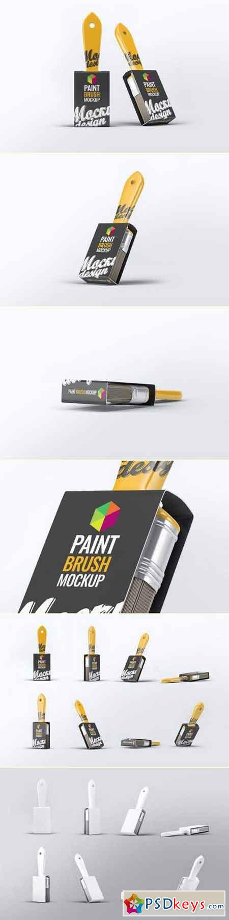 Paint Brush Mock-Up » Free Download Photoshop Vector Stock image Via