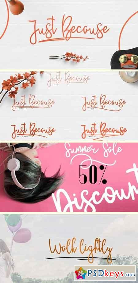 JustBecause Font Family - 6 Fonts
