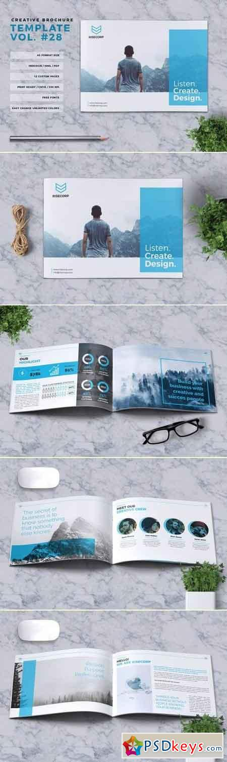 Creative Brochure Template A5 Vol. 28