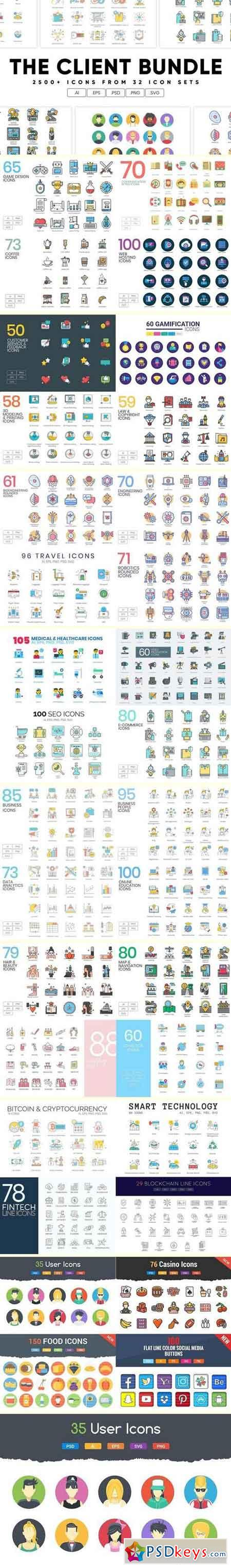 The Client Bundle 2,500+ Icons