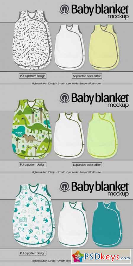 Baby blanket mockup 3475009
