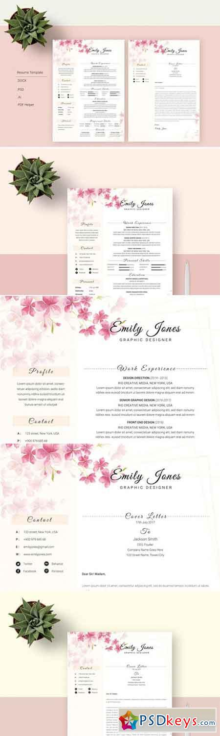 Water Color Resume Template