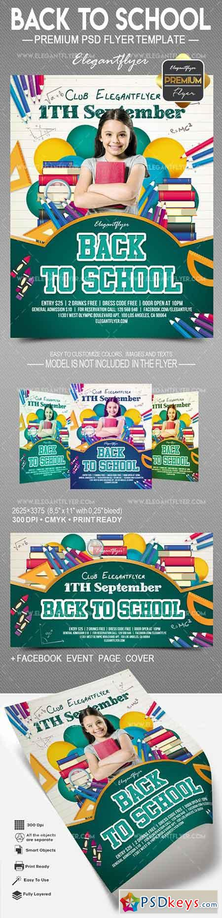 Back to School 2018 – Flyer PSD Template