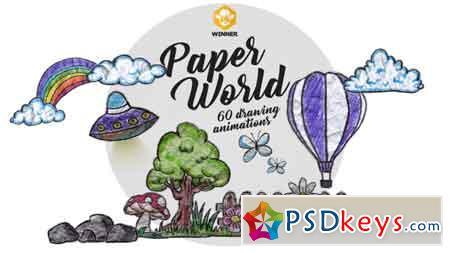 Paper World (Over 60 Drawing Animations) 11042907 Motion Graphics