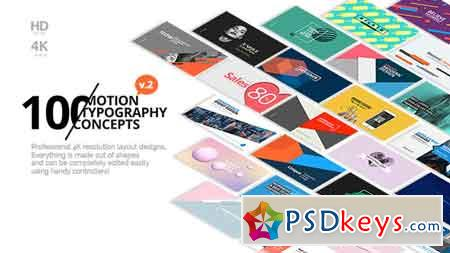 100 Motion Typography Concepts v2 21141394 After Effects Template