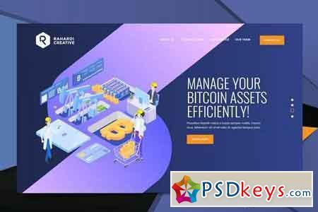 Bitcoin Web Header PSD Template Vol. 04