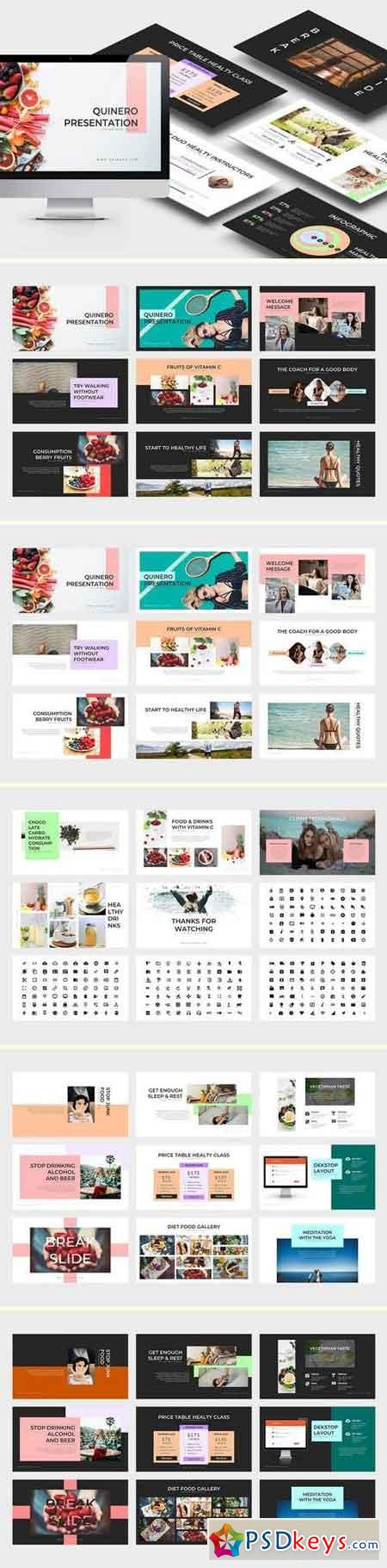 Quinero Healthy Lifestyle Powerpoint & Keynote Template