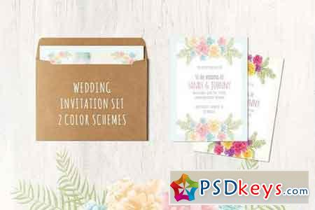 Floral Wedding Set 13 cards 618910