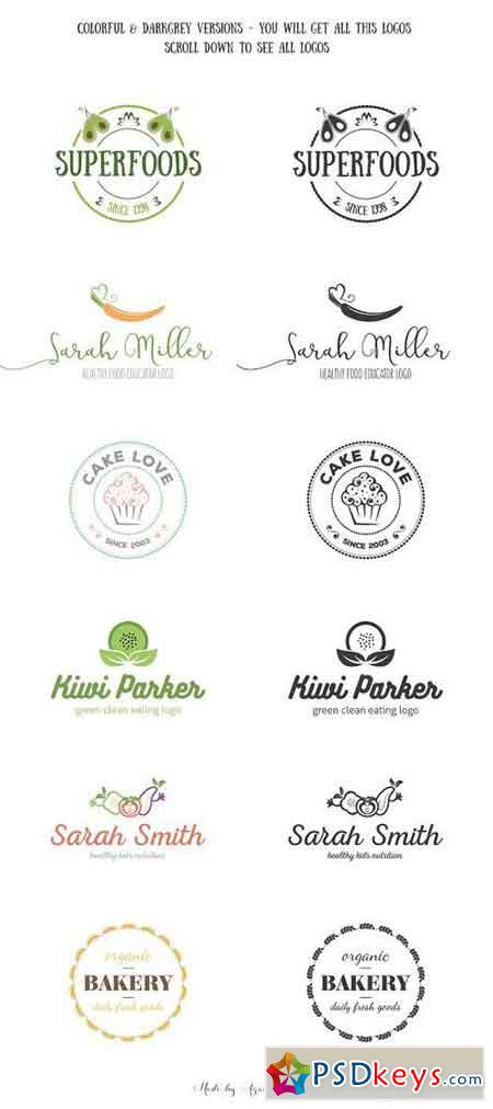 Unique Food Logos – Bundle 637692