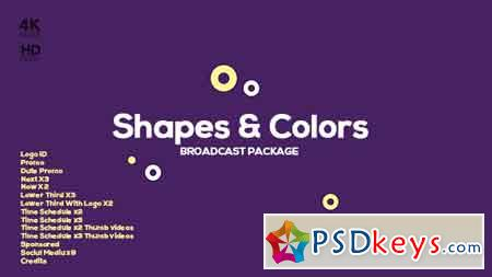 Shapes and Colors Broadcast Package 19649419 After Effects Template