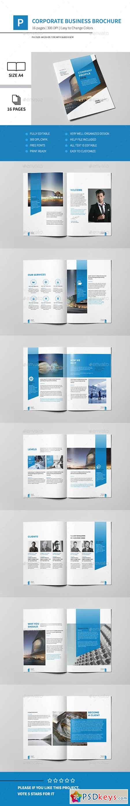 Corporate Business Brochure 16 Pages A4 14539762