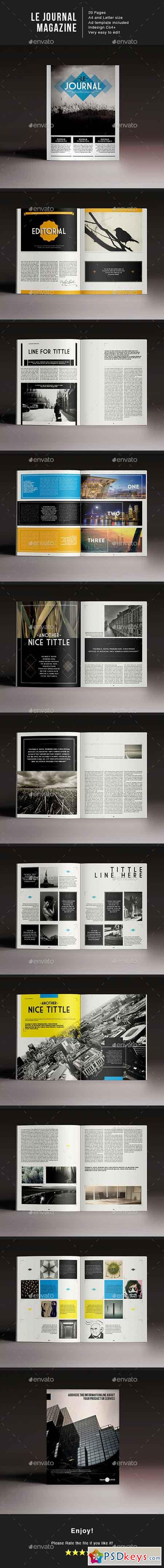 Le Journal Magazine Indesign Template 14445296