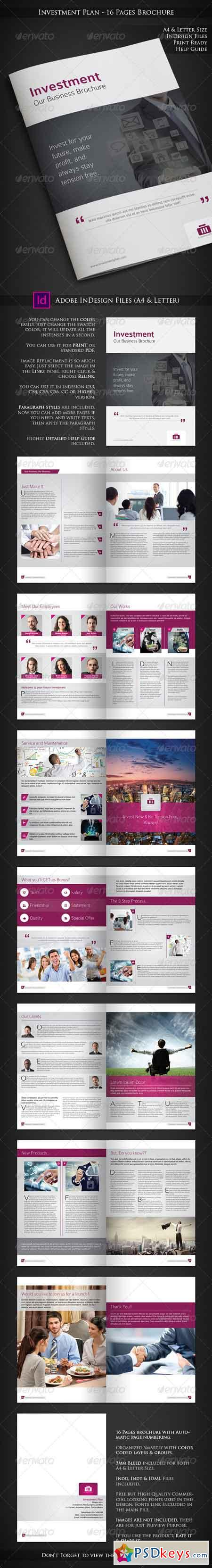 Investment Plan - 16 Pages Business Brochure 6603457