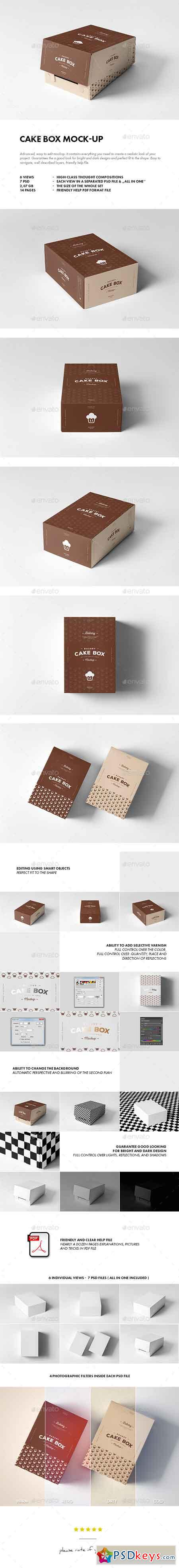 Cake Box Mock-up 19422295