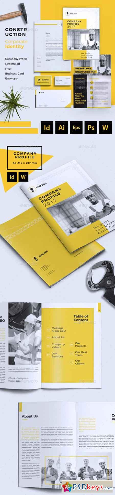 Builder Construction Corporate Branding Identity 20916904 » Free